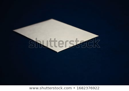 Blank beige paper card on blue background, business and luxury brand identity mockup Stock photo © Anneleven