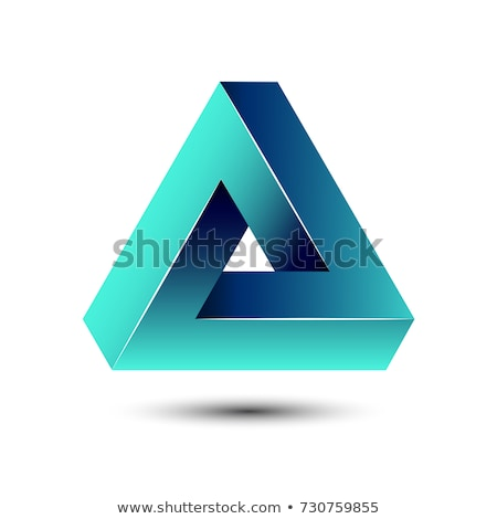 Impossible triangular infinity icon. Stock photo © almagami