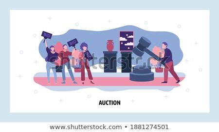 Auction house concept landing page. Stock photo © RAStudio