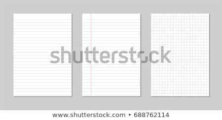 blank sheet of lined notebook paper set Stock photo © SArts