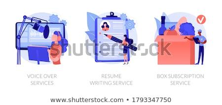 Online based jobs abstract concept vector illustrations. Stock photo © RAStudio