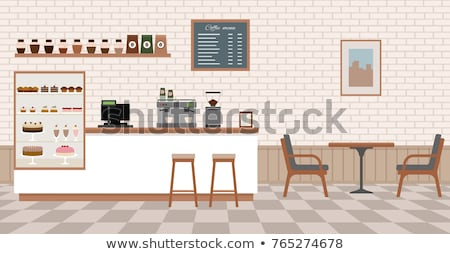 Armchairs and Table in Restaurant, Cafe Interior Stock photo © robuart
