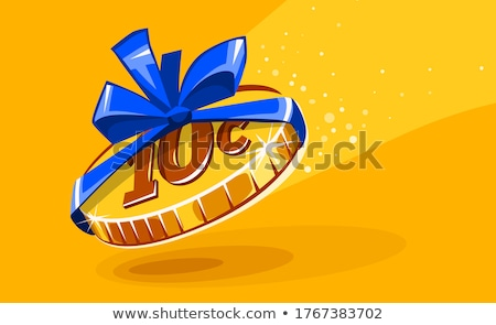10 cents coin in gift wrapping. Unfair Business concept Stock photo © LoopAll