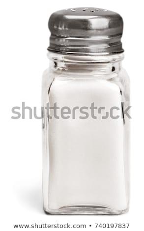 Salt in a Salt Shaker Isolated on White Background Stock photo © make