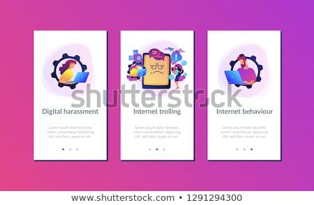 Comportamento aplicativo interface modelo promoção Foto stock © RAStudio