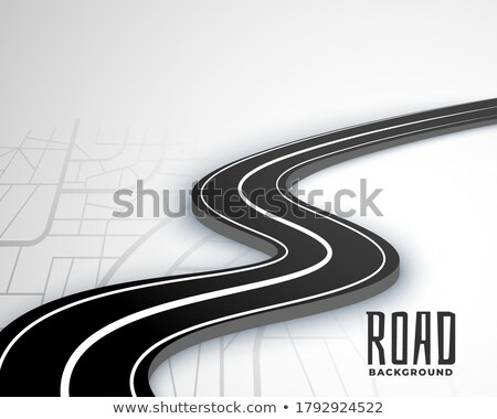 winding 3d road pathway on map style background Stock photo © SArts