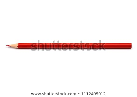 row of single colored pencils stock photo © ansonstock