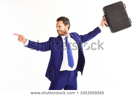 businessman holds a case Stock photo © goryhater