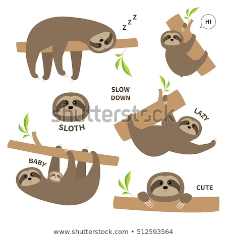 Cartoon Character Sloth Stock photo © RAStudio