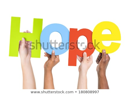 Colorful hope word and single person Stock photo © Ansonstock