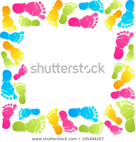 vector colorful feet and hands  Stock photo © freesoulproduction