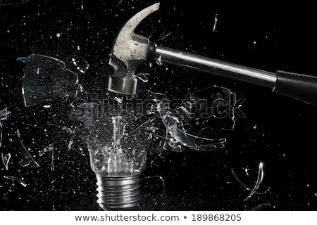 kalapács · üveg · rombolás · törött · üveg · bűnözés · csattanás - stock fotó © backyardproductions