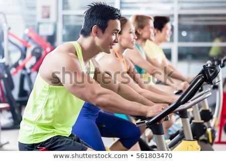 Girls in fitness center Stock photo © Aikon