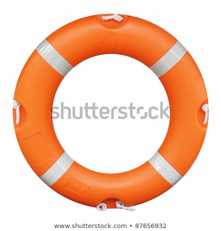 Cankurtaran simidi güvenlik deniz yalıtılmış beyaz arka plan Stok fotoğraf © ozaiachin