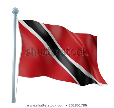 Political waving flag of Trinidad and Tobago Stock photo © perysty