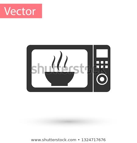 mikrodalga · fırın · yalıtılmış · arka · plan · renk · beyaz - stok fotoğraf © ozaiachin