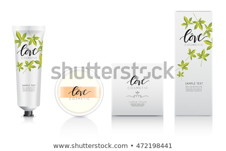 Woman presenting plastic boxes Stock photo © photography33