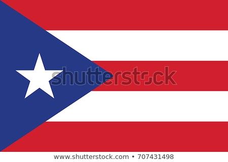 Puerto Rico vlag glanzend vlaggen Stockfoto © idesign
