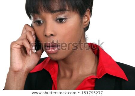 Negro mujer de negocios malas noticias teléfono negocios mujer Foto stock © photography33