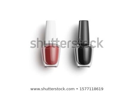 красный лак для ногтей бутылку женщины моде Сток-фото © oneinamillion
