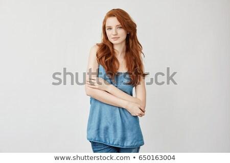 Female Red Head Posing Stock photo © ArenaCreative