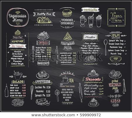ストックフォト: レストラン · メニュー · ボード · セット · 勾配