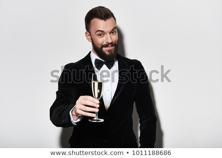 Man toasting with glass Stock photo © photography33