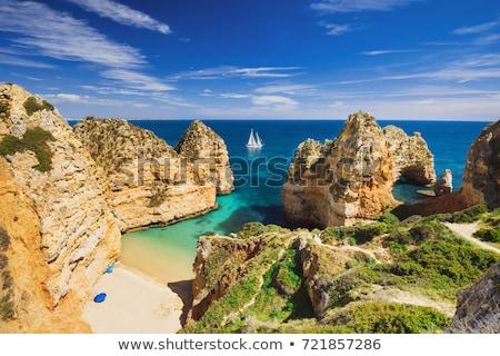 美しい · 崖 · ポルトガル · 海岸 · 風景 · ビーチ - ストックフォト © jeayesy