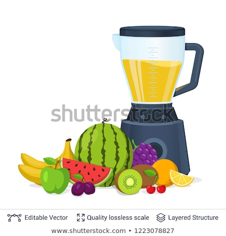 juicer with assortment of fruits Stock photo © M-studio