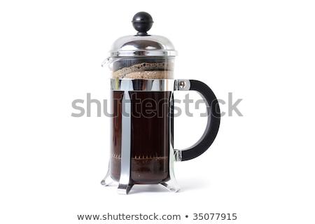 Fransız basın yalıtılmış beyaz kahve Metal Stok fotoğraf © shutswis