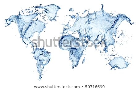 World Map with water waves Stock photo © m_pavlov