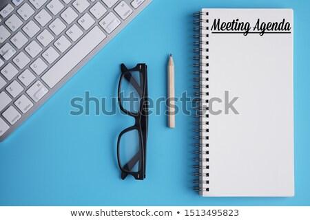 Agenda potlood business schema afbeelding kantoor Stockfoto © stevanovicigor