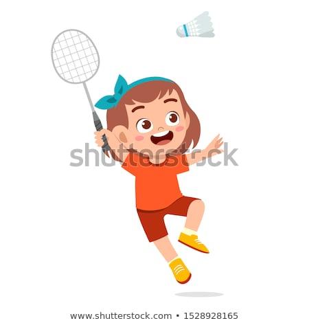 girl plays badminton Stock photo © ssuaphoto