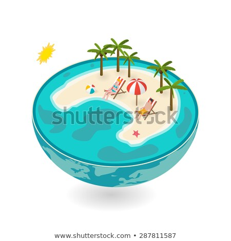 3d white people relaxed on green earth stock photo © 3dmask