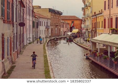 Colorful houses of Comacchio Stock photo © aladin66