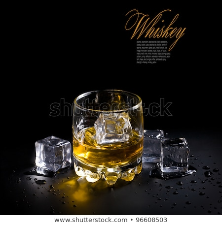 стекла виски черный продовольствие вечеринка искусства Сток-фото © Escander81