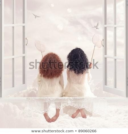 子 天使 釣り 古代 彫刻 湖 ストックフォト © HypnoCreative