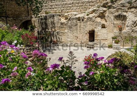 Foto stock: Entrada · jardim · túmulo · Jerusalém · Israel · cidade
