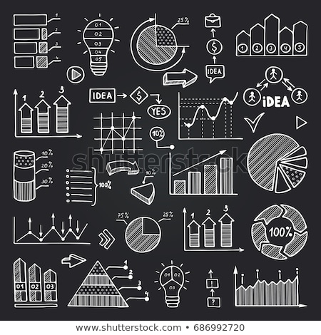 diagrams and pie charts and other infographics drawing stock photo © stevanovicigor