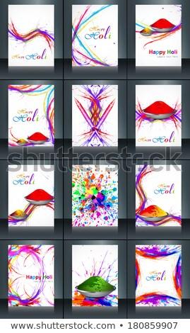 Piękna broszura karty refleksji festiwalu szablon Zdjęcia stock © bharat