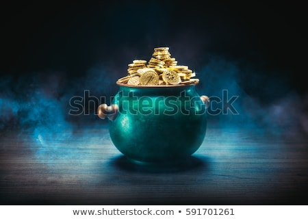 gold coins in the vintage pot Stock photo © mrakor