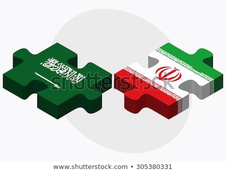 Iraniano bandeira quebra-cabeça isolado branco negócio Foto stock © Istanbul2009