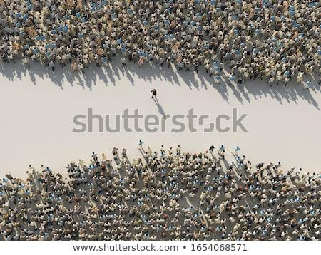 Iki gruplar şirket insanlar siyah parti Stok fotoğraf © Lom