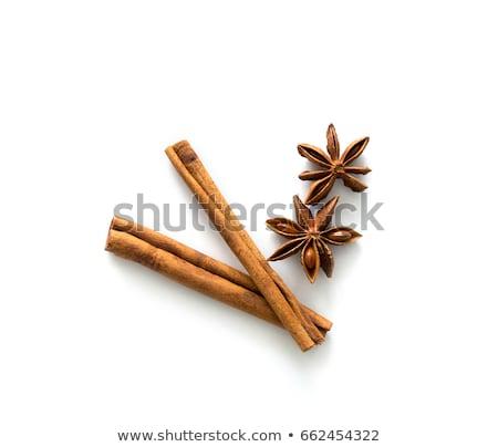Twee kaneel doek gezonde stick Stockfoto © raphotos