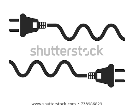 Isolated Electric cord plug Stock photo © njnightsky