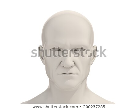 férfias · próbababa · izolált · fehér · modell · bőr - stock fotó © gemenacom