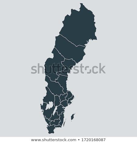 Kaart Zweden verschillend symbolen witte teken Stockfoto © mayboro1964