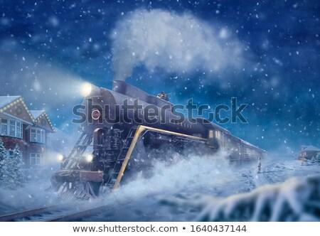 экспресс поезд прошлое железнодорожная станция транспорт Сток-фото © rghenry