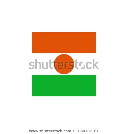 square icon with flag of niger stock photo © mikhailmishchenko