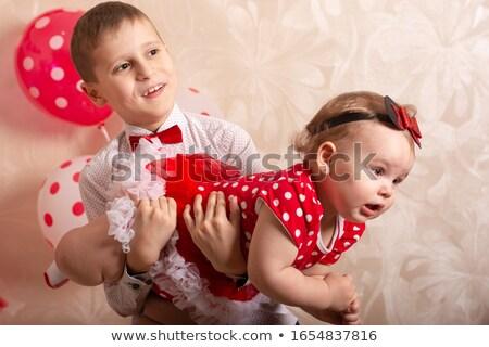 Pequeño nino hermana blanco nino triste Foto stock © wavebreak_media